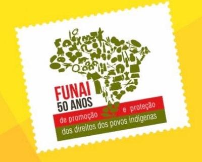 Novo selo dos Correios celebra 50 anos da Funai